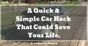 This simple, quick, and inexpensive car hack can get you and your family out of a tight spot in an emergency - click to read more!