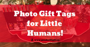 Holidays and Birthdays! Have little ones that can't read yet? Discover how to use photo gift tags to include them in the gifting fun!