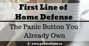Deter threats by using the panic button you already have to make noise and command attention - it's a simple, quick, and free first line of home defense.