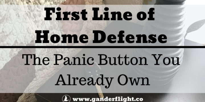 First Line of Home Defense: The panic button you already own.