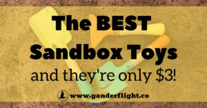 These are the best sandbox toys around and guess what - they're only $3! Check out how this SAHD put together the ultimate sandbox kit.