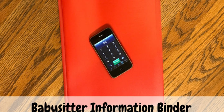 Babysitter Information Binder: What To Include