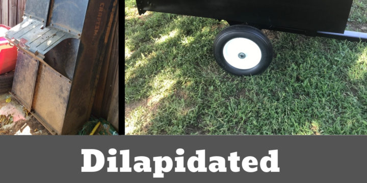 Riding Mower Dump Trailer: From Dilapidated to Dependable!